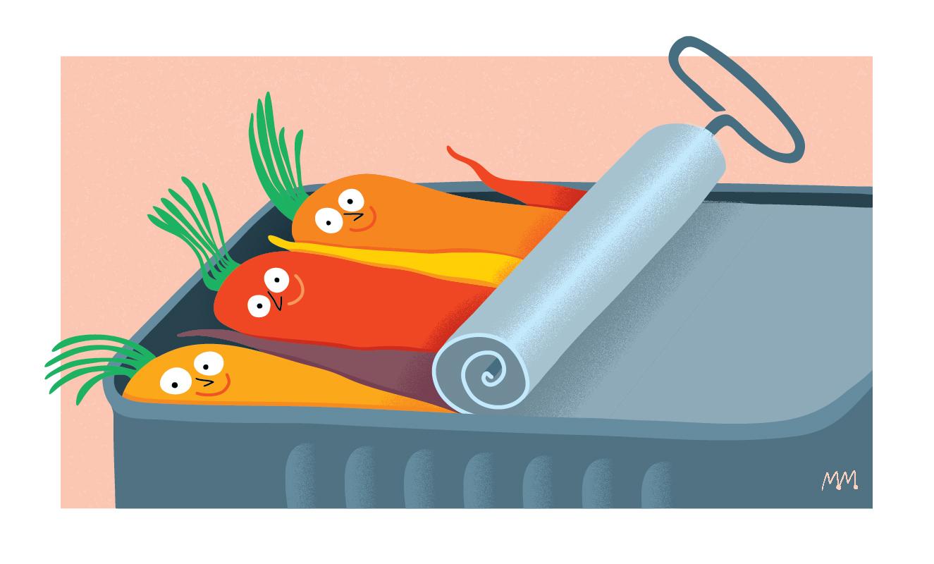 Carottes dans une boite de sardines